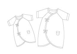 蝴蝶衣,娃娃裝,寶寶,新生兒,有機棉,寶寶,服飾