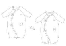 兩用,有機棉,兔裝,方便穿脫,寶寶,服飾