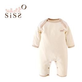【SISSO有機棉】寶寶好好穿長袖連身衣 3M 6M 12M