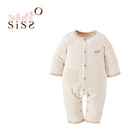 【SISSO有機棉】棉絨吸濕好保暖雙層兔裝 3M 6M 12M