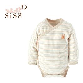 【SISSO有機棉】小兔花染吸濕保暖包屁衣 3M 6M
