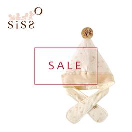 【SISSO有機棉】零碼商品5折 ↘刷毛棉棉兩用飛行精靈帽 F