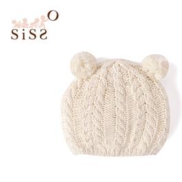 【SISSO有機棉】球球熊針織帽 F