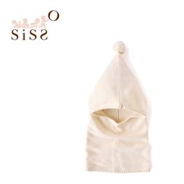 【SISSO有機棉】小球球針織圍巾帽 F