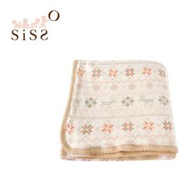 【SISSO有機棉】小雪花刷毛綿綿毯(蜜桔雪花)