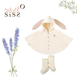【SISSO有機棉】78折限定↘兔兔棉絨絨披風襪襪禮盒 F