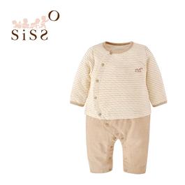 【SISSO有機棉】條紋空氣棉二合一兔裝 3M 6M