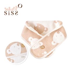 【SISSO有機棉】日本有機棉寶寶棉毛圍巾(熊)