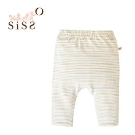 【SISSO有機棉】小花染吸濕保暖嬰兒褲 3M 6M 12M
