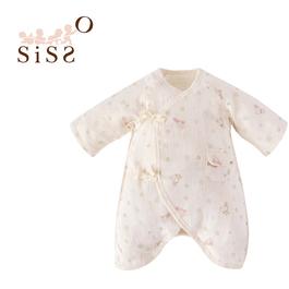 【SISSO有機棉】送你一朵小花紗布蝴蝶裝 3M 6M