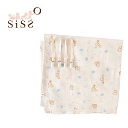 【SISSO有機棉】雲朵飛飛紗布萬用巾+多用途夾