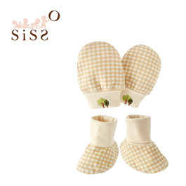 【SISSO有機棉】經典格格小樹手套x腳套組