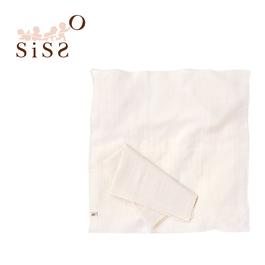 【SISSO有機棉】有機棉二重織舒棉紗布手帕巾(二入)