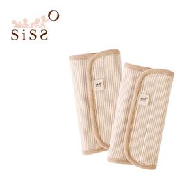 【SISSO有機棉】口水巾(咖條款)一組二入