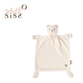 【SISSO有機棉】有機米米熊安撫手帕巾+多用途圍兜夾組