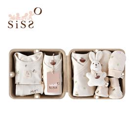 【SISSO有機棉】森林寶貝新生寶寶七件組禮盒 3M 6M