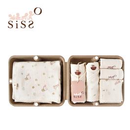 【SISSO有機棉】送你一朵小花舒棉紗布七件組禮盒 3M