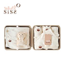 【SISSO有機棉】SISSO SISSO親愛寶寶好柔棉禮盒(咖咖熊)3M