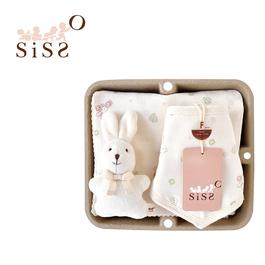 【SISSO有機棉】送你一朵小花紗布萬用巾圍兜禮盒 F