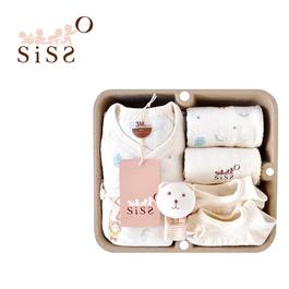 【SISSO有機棉】雲朵飛飛蝴蝶裝襪襪禮盒 3M 6M