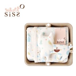 【SISSO有機棉】石虎鴞鴞涼感萬用巾禮盒 F
