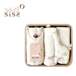 【SISSO有機棉】芭蕉鹿鹿蝴蝶裝禮盒 3M 6M