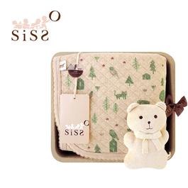 【SISSO有機棉】大地石虎空氣棉萬用毯禮盒