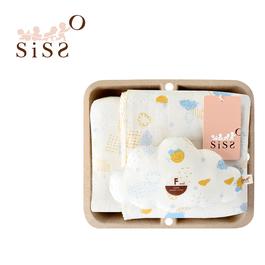 【SISSO有機棉】你在這裡天氣晴紗布萬用巾禮盒 F