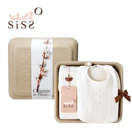【SISSO有機棉】皇家緹花空氣棉寶寶包巾禮盒