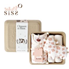 【SISSO有機棉】巧克力牛奶紗布蝴蝶裝禮盒 3M 6M