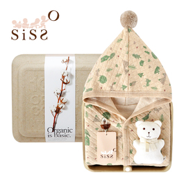 【SISSO有機棉】大地石虎鴞鴞披風布偶禮盒
