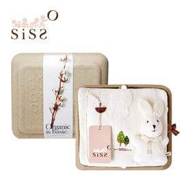 【SISSO有機棉】你好米米兔洗澎澎紗布浴巾禮盒 F