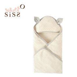 【SISSO有機棉】預購款-小鹿灰米二重織包巾 F (預計到貨日:2018/10月初)