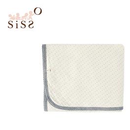 【SISSO有機棉】/紅利商品/灰米點點二重織多功能萬用毯