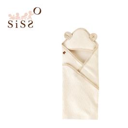 【SISSO有機棉】菇菇熊二重織空氣棉包巾