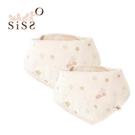 【SISSO有機棉】送你一朵小花紗布三角巾(二入組) F