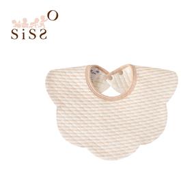 【SISSO有機棉】咖條空氣棉二重織圍兜