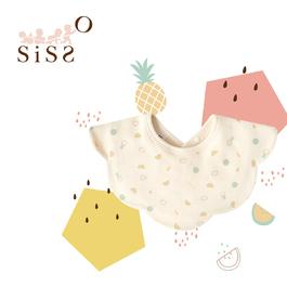【SISSO有機棉】送你一顆冰小玉涼感親親圍兜