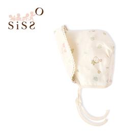 【SISSO有機棉】送你一朵小花紗布法式寶寶帽 F