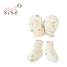 【SISSO有機棉】芭蕉鹿鹿紗布手套x腳套組