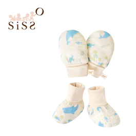 【SISSO有機棉】海豚灣灣紗布手套x腳套組