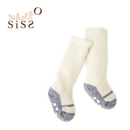 【SISSO有機棉】灰米泡泡嬰兒襪(舞鞋) 3M 12M 2A