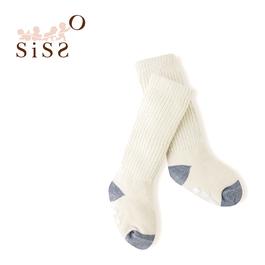 【SISSO有機棉】灰米泡泡嬰兒襪(運動) 3M 12M 2A