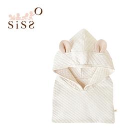 【SISSO有機棉】熊熊空氣棉圍巾帽