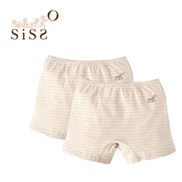 【SISSO有機棉】彩棉居家小短褲(彩條) L XL