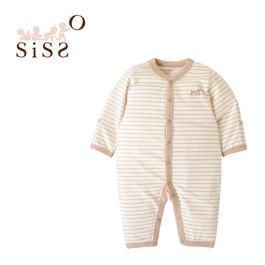 【SISSO有機棉】法式條紋長袖兔裝 3M 6M