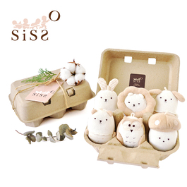 【SISSO有機棉】蛋寶家族六入禮盒