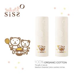 【SISSO有機棉】有機棉HONEY熊紗布緹花方巾(一組二入)